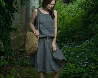 Semi-Circular Linen Skirt