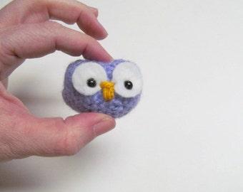 Mini Owl Amigurumi for Mobile or Ornament