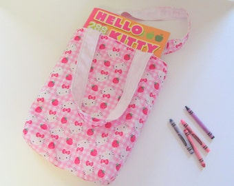 Pink Kitty Child Tote Bag