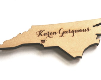 Custom Wood State Magnet for Wedding Gift and Escort Cards