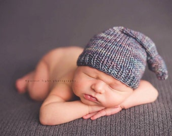 Knitting Pattern - Sleepy Time Beanie - Photography Prop