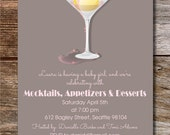 Mocktails and Appetizers Baby Shower - You Print
