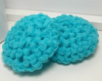 Aqua Scrubbies - Reusable Dish Scrubbies - Aqua Scouring Pads - Set of 2