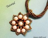 NINE PETALS beaded necklace beading tutorial beadweaving pattern seed bead beadwork jewelry beadweaving tutorial beading pattern instruction