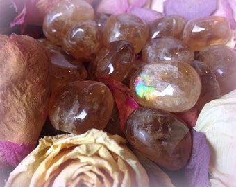 Tumbled Honey Calcite stones