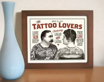 Tattoo art tattoo parlor sideshow art circus poster art print for Gifts for tattoo artist