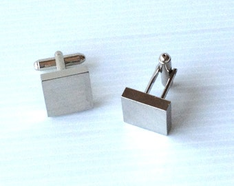 cufflinks, vintage cuff links,  silver polished cufflinks, for him, mens cuff links, groom, wedding cufflinks