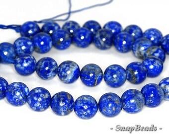 8mm Azura Lapis Lazuli Gemstone Blue Round Loose Beads 15.5 inch Full Strand (90147162-257)