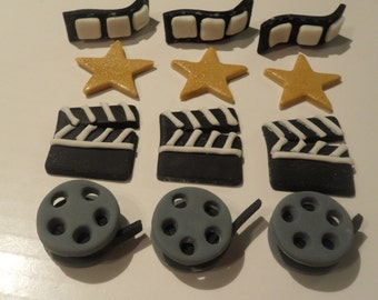 Fondant Cupcake Toppers - Movie Themed II