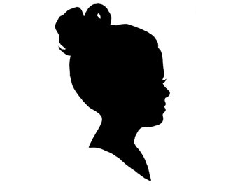 5x7 Custom Vinyl Silhouette in Black of Your Child or Pet for Mother or Grandmother