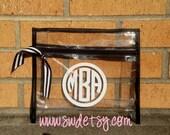 Wet Bikini Bag, Personalized Bag, Monogrammed Bag, Bridesmaid Gift, Bachelorette Gift