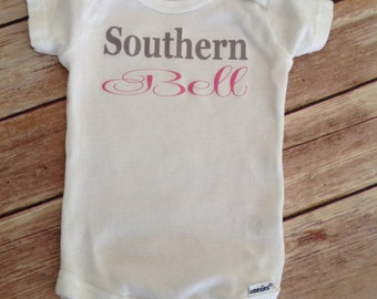 Southern Bell Baby One Piece (Custom Colors/Wording)