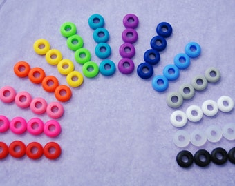 16 Colored Grommets Rubber Grommets for DIY Mason Jar Cups, Tumblers, Silicone Grommets Food Safe, Food Grade for Reusable Straws, Wedding