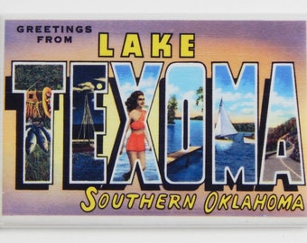 Greetings from Lake Texoma Oklahoma Fridge Magnet