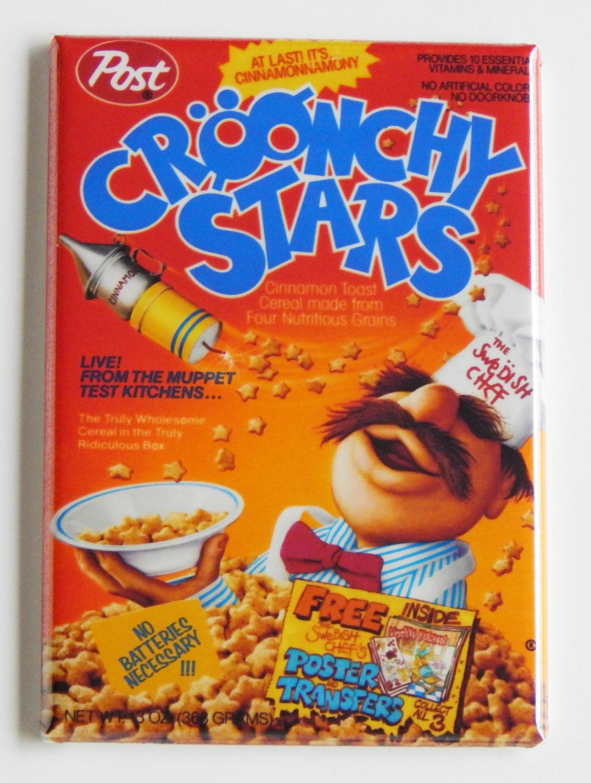 croonchy stars cereal box fridge magnet