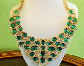SALE Bold Spectacular Rhinestone Glamour Necklace, Sale was 125.00, Now