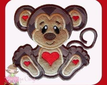 Love Monkey applique design
