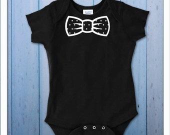 Polkadot bow tie baby onesie