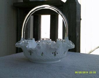 Silver crest Fenton Basket