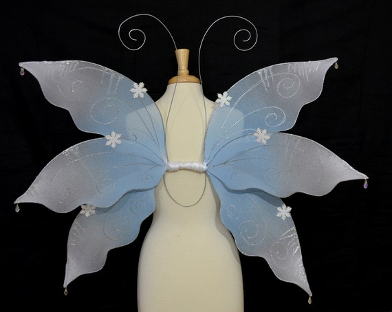 SALE Snow Queen Wings Winter Fairy Costume one of a kind