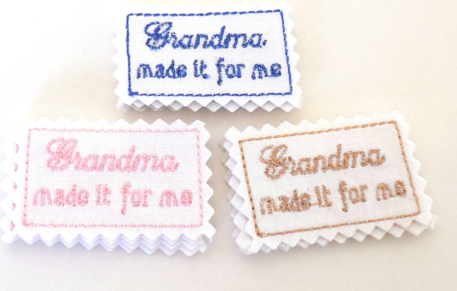 handmade labels for sewing sewing labels made it for me embroidered sewing or craft 6488