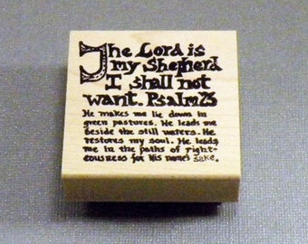 Rubber Stamp Psalm 23 Saying