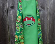 Teenage Mutant Ninja Turtles Cape - Handmade and Reversible - authorized fabric/not affiliated with IP holder