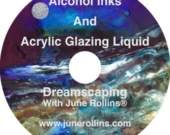 NEW! Alcohol Inks And Acrylic Glazing Liquid DVD