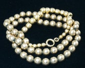 Vintage Gilt Sterling Silver Graduated Bead Necklace.