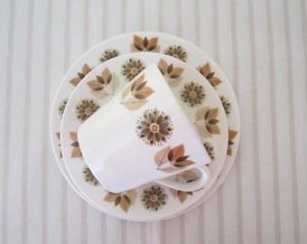 RETRO Mid Century 1950s Colclough bone china trio - cup saucer and plate