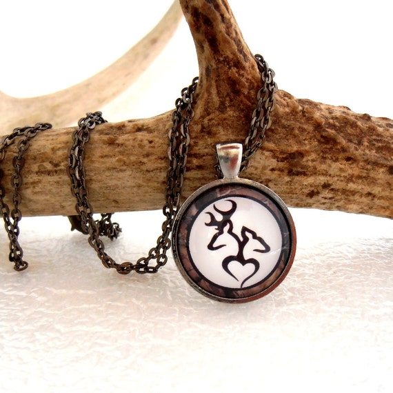 items similar to buck and doe necklace camo jewelry deer
