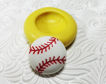 Baseball Mold Flexible Silicone Rubber Push Mold for Resin Wax FIMO Fondant Royal Icing Chocolate Polymer Clay Metal Clay