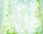 NEW 2ft x 2ft Vinyl Photography Backdrop / Christmas Tree Bokeh