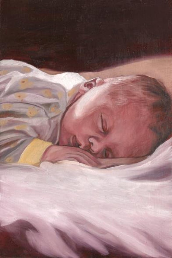 Custom Portrait Oil Painting - Miniature Portrait - Miniature Painting