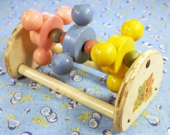 1950's Strombecker Spinning Baby Rattle Toy