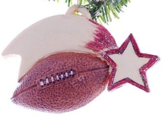 Football ornament - maroon school color - player ornament - team ornament - coach ornament - personalized Christmas sports ornament (52)