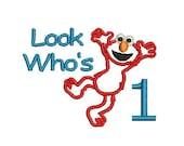 Elmo Embroidery Design, Elmo Applique, Elmo Birthday (52) Instant Download