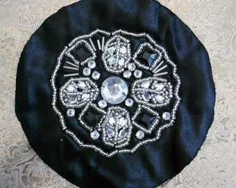 Black and Silver Beaded Applique