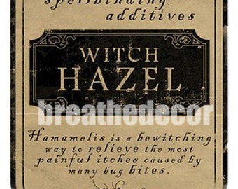 Vintage Witch Hazel Label