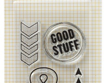 Amy Tangerine Cut & Paste Acrylic Stamps - Good Stuff -- MSRP 4.00