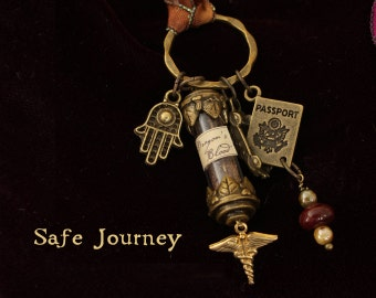 "Talisman, ""Safe Journey"",  to wear while traveling."