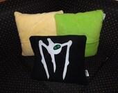 War of the Worlds Tripod Pillow Applique OOAK Cushion Geek Chic 'Pillowettes' Retro Sci Fi Aliens Martian
