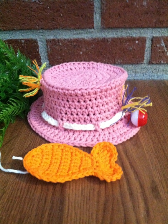 Items similar to Crochet Fishing Hat & Fish Baby Photo ...
