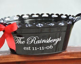 Personalized Beverage Tub/ Drink Tub/ Party Tub/ Family Name/ Wedding Tub