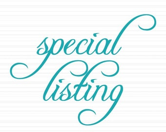 Special Listing for Tiffany