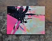 Original Abstract Painting - 9 x 12 Acrylic Mixed Media Painting