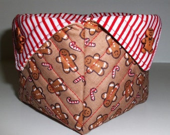 Fabric Baskets - Gingerbread Boys