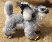 Handmade Gryphon Kitten Poseable Art Doll