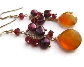 Yellow Chalcedony Earrings Chalcedony Earrings Yellow Earrings Gold Filled Earrings Fall Winter Trends Summer Style Gift Idea For Her