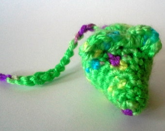 Sour Apple Mouse Cat toy. crinkly or rattle, cat nip